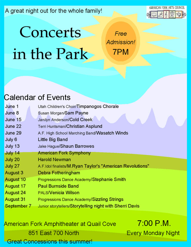Concerts in the Park - American Fork