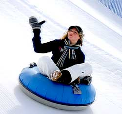 Snowbasin Tubing with Lifts, Sledding, Winter Activities, Winter Olympics, Utah, Weber County, Huntsville