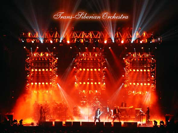 Trans Siberian Orchestra Light Pyrotechnics, Live Musical Performance