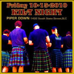 Kilt Night with The Swagger Band, Salt Lake City, Utah Live Music