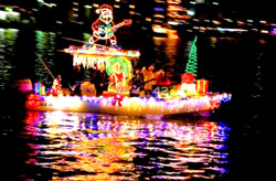 Riverboat Christmas Light Tour, Provo, Utah, Provo River