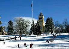 USU Old Main Hill, Logan, Utah, Winter Summer Activities, Snow Tubing, Sledding, Sliding, Utah State University, Logan, Utah, Cache County