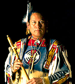 R. Carlos Nakai - Flutist, Libby Concert Hall, University of Utah, Salt Lake City, Utah, Native American Music, New Age, Orchestra