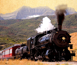 Heber Valley Railroad up Provo Canyon, Utah, Utah County, Family Train Rides
