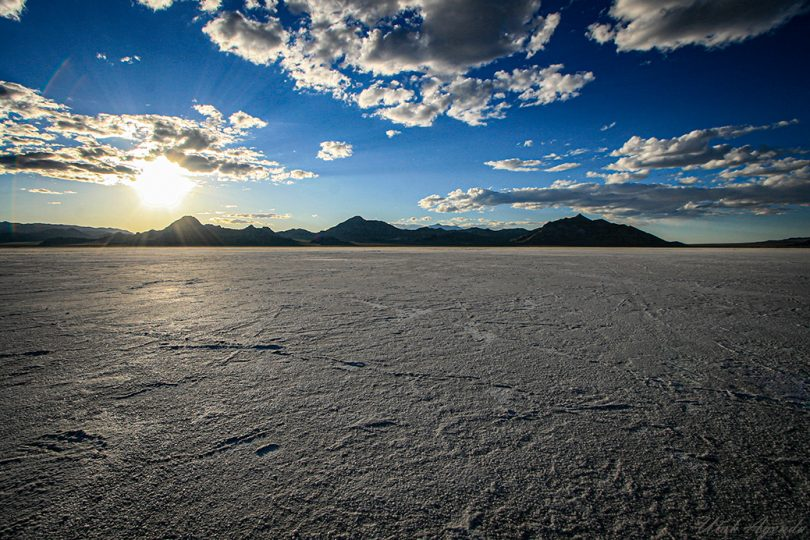 Bonneville Salt Flats Utah Clouds