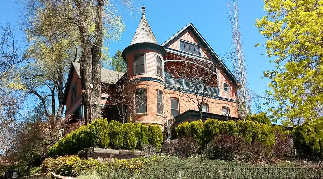 Historic Capitol State Street Mansion in April